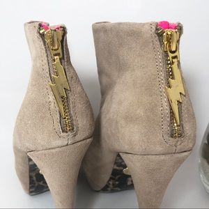 Betsey Johnson Shoes - Betsey Johnson Thanee Suede Leather Zip Booties